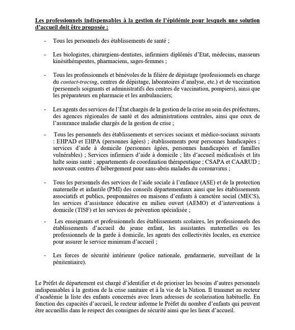 Informations aux kinésithérapeutes suite aux annonces du Président de la République monsieur Emmanuel Macron